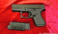 NUOVO #N-0079 Glock - 42 calibro 380 Auto (9 corto) ARMA COMUNE Prezzo di listino ufficiale euro 609,00 Acquistabile esclusivamente in armeria a seguito di presentazione di Porto d'Armi o titolo di polizia equipollente. Presenti anche su: