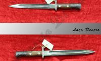 USATO #L-0013 Baionetta Mauser Esportazione lunghezza lama cm 24,5 lunghezza impugnatura 13  NOTE: - anno 1944  ARMA BIANCA Prezzo euro 85,00 Acquistabile esclusivamente in armeria a seguito di presentazione di Porto d'Armi o titolo di polizia equipollente. Presenti anche su: